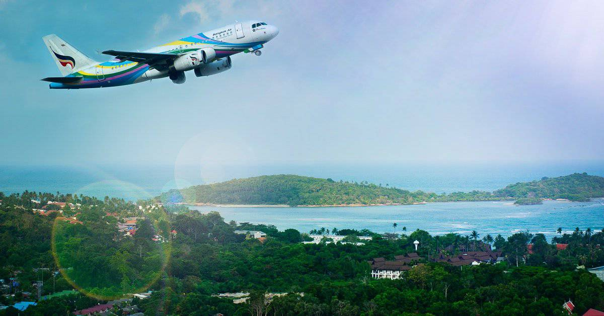 Flight from Bangkok to Koh Samui